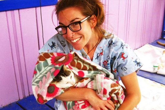 Annie Provencher est TSA fait partie de l'équipe à la Clinique vétérinaire des petits animaux de l'Estrie