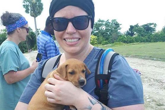 Marie-Michel Gagné est TSA et fait partie de l'équipe à la Clinique vétérinaire des petits animaux de l'Estrie